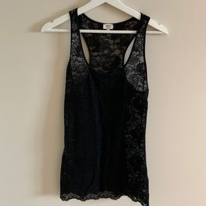 💜2 for 30$💜 Wilfred Black Lace Tank Top